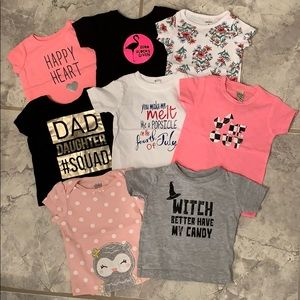 Bundle of 8 baby girl t shirts